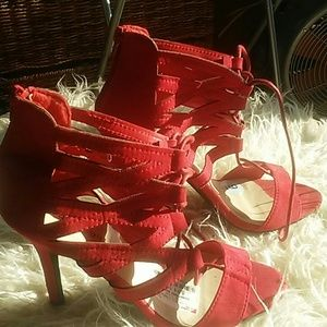 Madden Girl Red High Heel Shoes